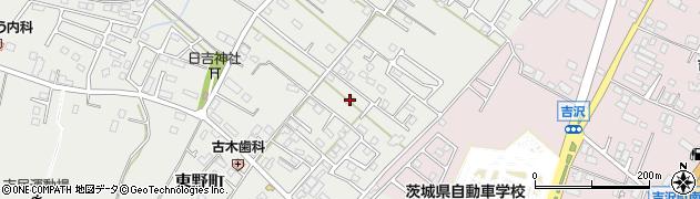 茨城県水戸市東野町周辺の地図