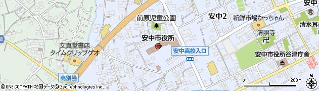 群馬県安中市周辺の地図