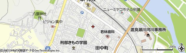 栃木県足利市田中町周辺の地図