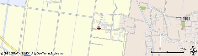 茨城県筑西市掉ヶ島周辺の地図
