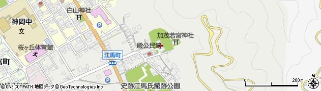 瑞岸寺周辺の地図
