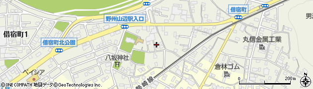 栃木県足利市借宿町周辺の地図