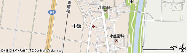 茨城県筑西市中舘周辺の地図