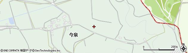 茨城県桜川市今泉周辺の地図