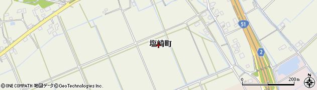 茨城県水戸市塩崎町周辺の地図