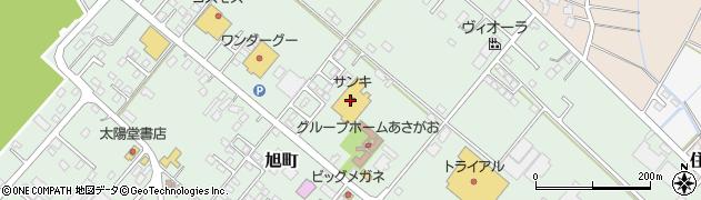 株式会社サンキ 友部店周辺の地図