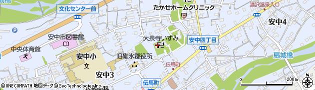 大泉寺周辺の地図