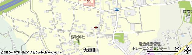 茨城県水戸市大串町周辺の地図