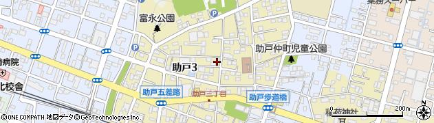 栃木県足利市助戸周辺の地図