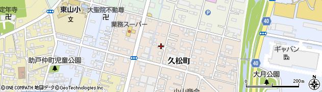 栃木県足利市久松町周辺の地図