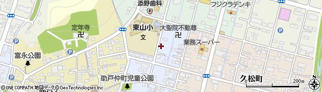 栃木県足利市助戸仲町周辺の地図