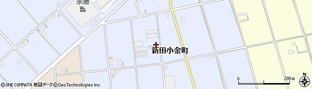 群馬県太田市新田小金町周辺の地図