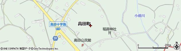 茨城県水戸市高田町周辺の地図