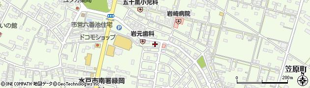 白牡丹美容院周辺の地図