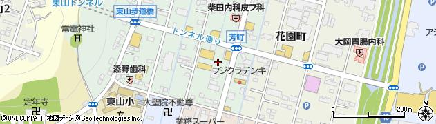 栃木県足利市芳町周辺の地図