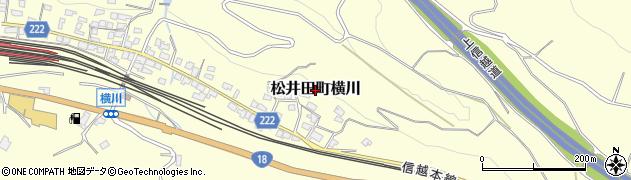 群馬県安中市松井田町横川周辺の地図