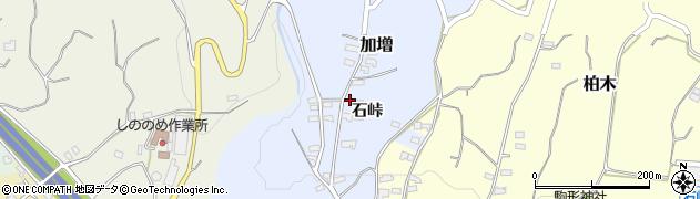 長野県小諸市加増石峠周辺の地図