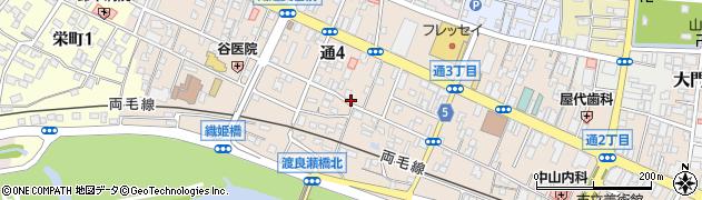 栃木県足利市通周辺の地図
