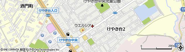 茨城県水戸市けやき台周辺の地図