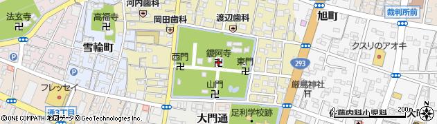 大日尊鑁阿寺周辺の地図