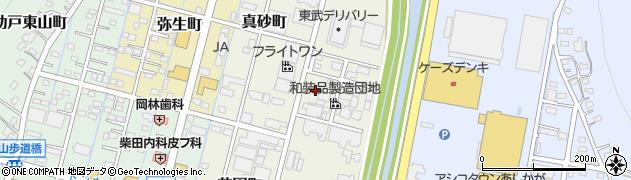 栃木県足利市真砂町周辺の地図