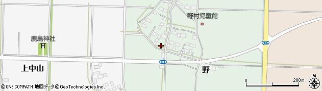 茨城県筑西市野周辺の地図