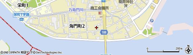 茨城県ひたちなか市海門町周辺の地図