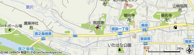 南窓寺周辺の地図