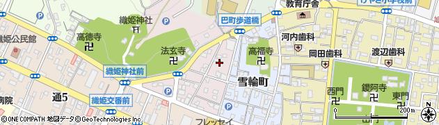 栃木県足利市巴町周辺の地図