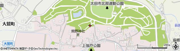 群馬県太田市上強戸町周辺の地図