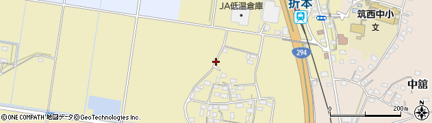 茨城県筑西市谷部周辺の地図