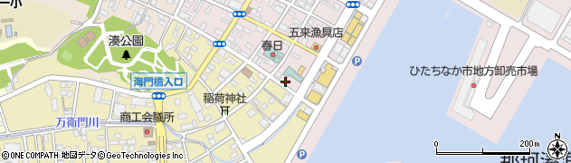茨城県ひたちなか市湊本町周辺の地図