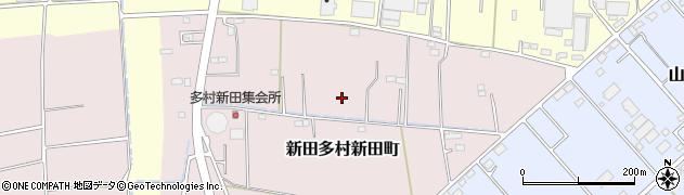 群馬県太田市新田多村新田町周辺の地図