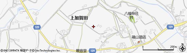 茨城県笠間市上加賀田周辺の地図