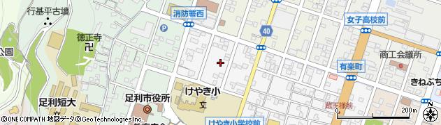 栃木県足利市柳原町周辺の地図