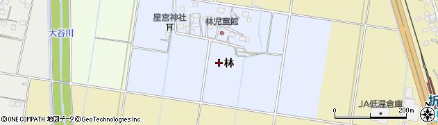 茨城県筑西市林周辺の地図