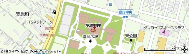 茨城県庁 土木部都市計画課企画調整周辺の地図