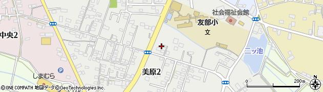 茨城県笠間市美原周辺の地図