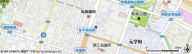 栃木県足利市有楽町周辺の地図