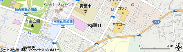 栃木県足利市大橋町周辺の地図