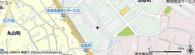 群馬県太田市清原町周辺の地図