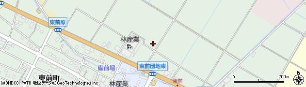 茨城県水戸市東前町周辺の地図