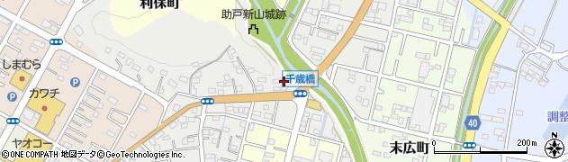 栃木県足利市助戸新山町周辺の地図