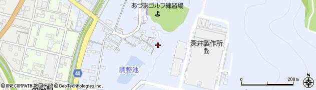 栃木県足利市大月町周辺の地図