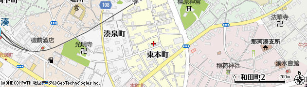 茨城県ひたちなか市東本町周辺の地図