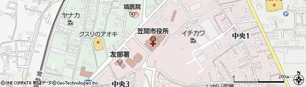 茨城県笠間市周辺の地図