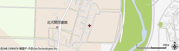 茨城県筑西市大関周辺の地図