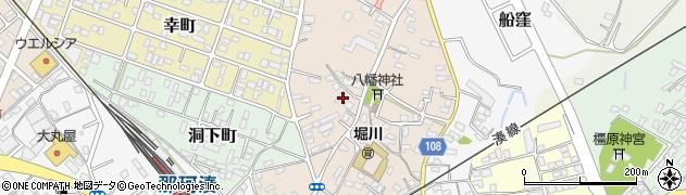 茨城県ひたちなか市八幡町周辺の地図