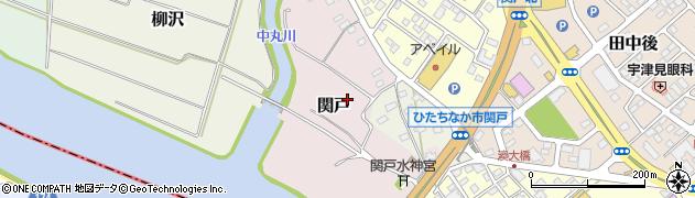 茨城県ひたちなか市関戸周辺の地図