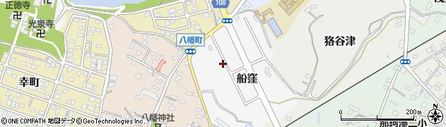 茨城県ひたちなか市船窪周辺の地図